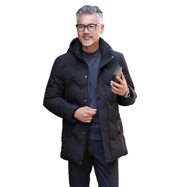 Зима мужская сгущает теплые куртки простой подол практичный водонепроницаемый карман на молнии высокого качества большой размер XL-5XL мужская зимняя куртка