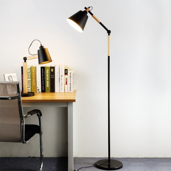 2019 Nordic Wood Floor Lamp Modern Luminaria Vertical Standing Light For Living Room Bedroom Hotel E27 Lamparas Floor Lamp From Jess567 182 92