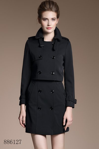 High-end vest skirt with a small jacket set black Double Breasted Coat Jackets Trench Coats Wear Dresses Blouses Shirts T-shirts