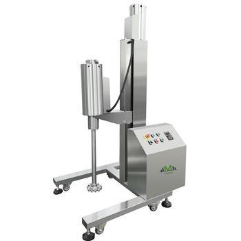 Mezclador de 1HP / 750W de alto cizallamiento / homogeneizador / equipo de laboratorio con máquina mezcladora de solvente de tinta de acero inoxidable