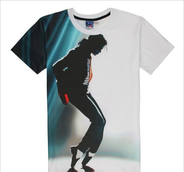 Fashion mens designer t shirts Michael Jackson print brand casual tshirt fashion cotton men clothe Top Tee
