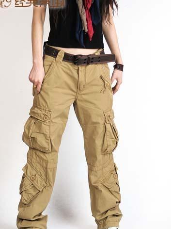 pantalon cargo pour femmes Mode salopette cargo camo militaire de l'armée jambe large pantalon en coton occasionnels multi poches pour les femmes pantalon hip hop