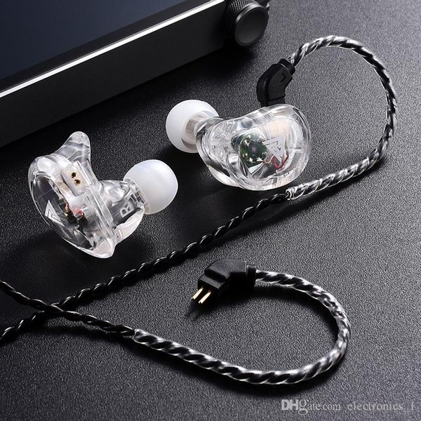 VK1 Ear Headset HiFi hanging ear running headset coaxial four unit bass mobile phone music with mic headset