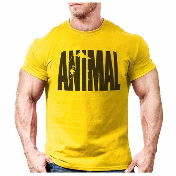 Animal print tracksuit t shirt muscle shirt Trends in 2016 fitness cotton brand Men Women Unisex Fashion tshirt Free Shipping