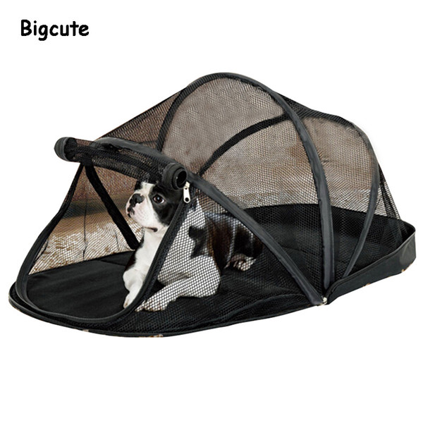 Portable Dog House Cage for Small Dogs Crate Cat Net Tent for Cats Outside Kennel Foldable Pet Puppy Anti-Mosquito Net Tents