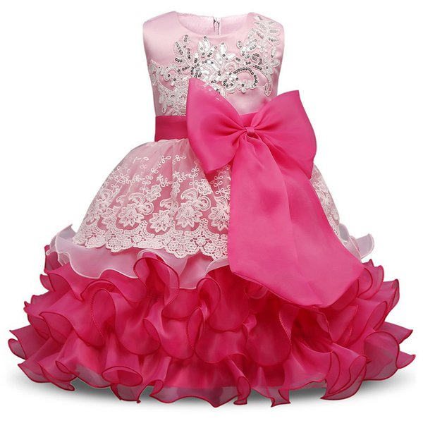 2018 nouvel été fille robe pour anniversaire de mariage enfants Party Wear marque enfant robe de bébé robe de baptême vêtements pour filles 10 ans Y19061501