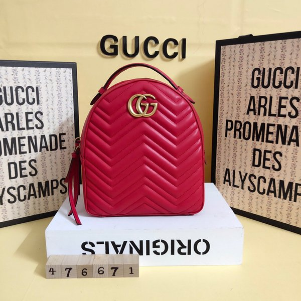 2019 yılında, yüksek kalite, deri, moda, Tophigh-end, erkekler ve kadınlar G çanta, çanta, omuz çantası, sırt çantası, model 476671, size22cm26.6cm11cm