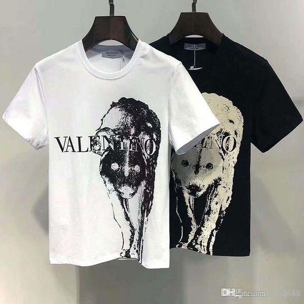 50 # Italien neue Männer T-Shirt Polo-Shirt Qualität Mode Männer T-Shirt Designer gedruckt Kurzarm-Polo-Shirt T-Shirt, Schädel T-Shi