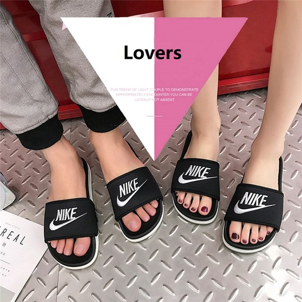 Aşıklar Moda Terlik Kalın Alt PU Kapalı Rahat Sandalet Açık Plaj Ayakkabıları erkek ve kadın Tasarımcı Terlik Ücretsiz nakliye