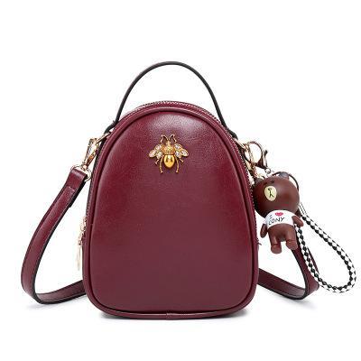 Exquisite Bee Crossbody Bag Vintage Elegant Women Shoulder Bag Lovely Bear Flap Bag Roomy Cell Phone Pocket Money Holders