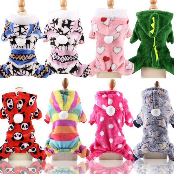 Собака Костюм ватки Pet собак Одежда для собак бишон Husky Одежда Рождество Осень зимнее пальто XS-XXL 15 Designs