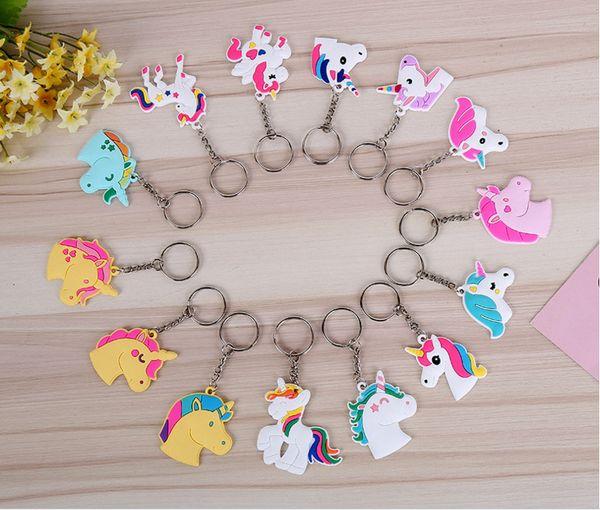Durable Mini Key Chain For Men And Women Doll Unicorn Keys Buckle Cartoon Unicornio Keychain Hot Sale lin4751