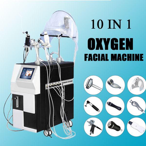 2019 oxygen facial machine oxygen spray gun eye lifting multifunctional facial machines with 10 Handles Face Care