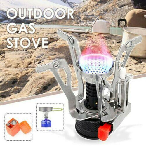 New Mini Style Easy to Carry Portable Outdoor Camping Hiking Aluminum Gas Stove Folding Cooking Burner