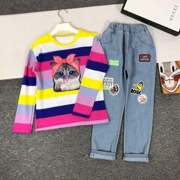 kids_love Trajes de dos piezas Traje de ropa para niños Pantalones deportivos para niños Color puro algodón Abrigo para niños Conjunto de ropa para niños 0818