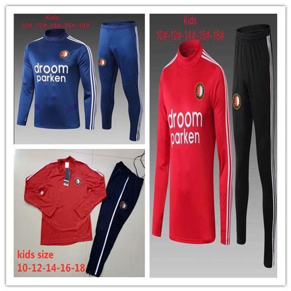 2019 niños Feyenoord Rotterdam entrenamiento de fútbol traje de chaqueta 2020 V.PERSION MONTAJE Mbappé Pogba KANTE de ISCO KROOS Formación Juego MUCHACHO DE DEPORTES