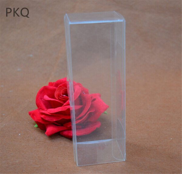 wholesale 5x5x25cm Clear PVC Gift Box Transparent Waterproof Candy Box PVC Plastic Packaging Cosmetic/Display boxes 20pcs