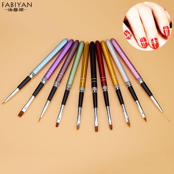 10pcs Nail Art Brush Crystal Carving UV Gel Drawing Painting Dotting Dot Brushes Pen Kits DIY Tips Manicure Tools Set Hot Sale