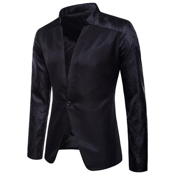 2018 neue stil mode solide stilvolle männer casual slim fit formale eine taste anzug blazer casual tops # 545684