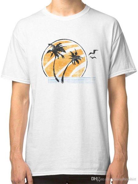Design T-Shirt Dos Homens de Manga Curta Máquina De Impressão O Último De Nós Camisetas