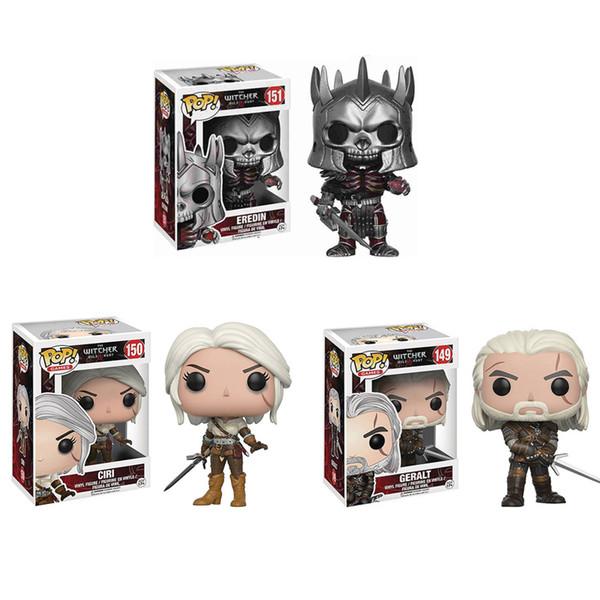 Funko Pop The Witcher 3 - Caça Selvagem: Geralt Figura Dark Horse Deluxe O Witcher PVC Jogo Figura Brinquedos