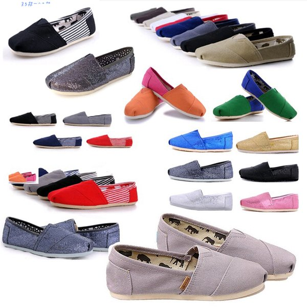 Vente chaude femmes hommes marque sneakers toile chaussures tom chaussures mocassins appartements espadrilles tom chaussures plates pour les femmes bas prix taille 35-45