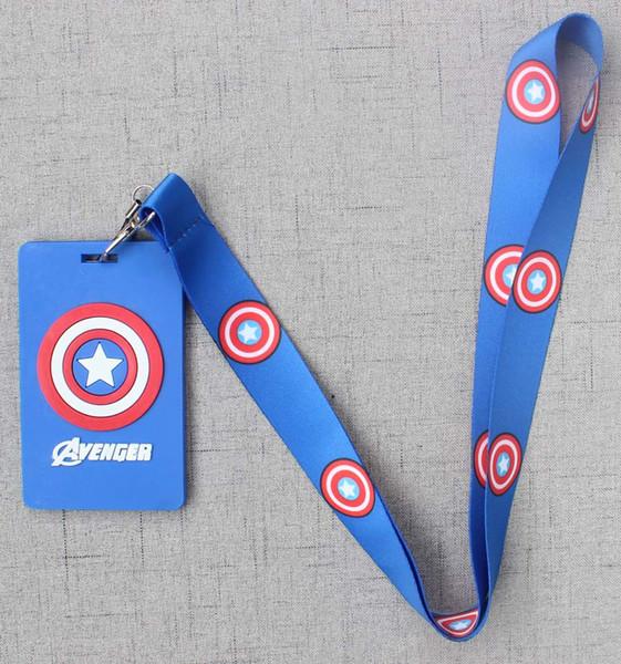 10pcs Captain America Neck Strap Lanyard Key chain Phone Card Badge Holder