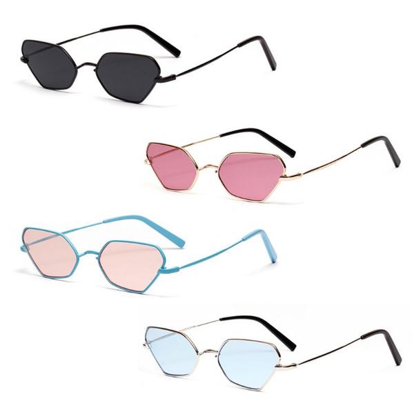 Cat Eye Sunglasses Geometric Metal Frame Sun Glasses UV400 Universal Women Men Fashion Trendy Protection Eyewear Party Driving