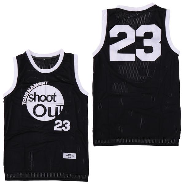 Torneo Moive Shoot Out 23 Jersey de madera Motaw Hombres 96 Birdie Tupac Camisetas negras de baloncesto Sobre el borde Disfraz Camisas deportivas dobles