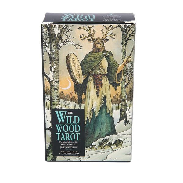 Wild Wood Tarot Rueda de la cubierta Año Prisma Naipes del favor de partido del juego de mesa juguetes para adultos de entretenimiento familiar