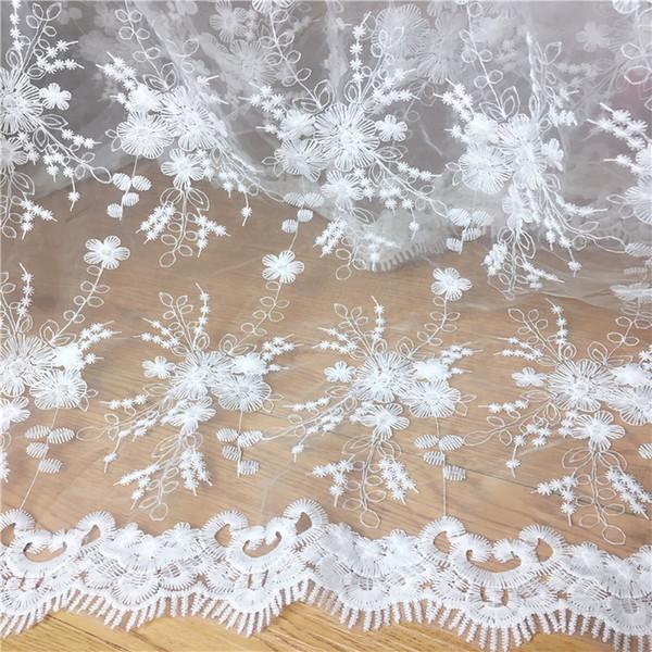 Tule Organza bordado tecido de renda flor artesanato diy moda vestido de noiva roupas Cortina decora acessórios MT67
