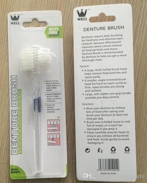 NEUE Ankunft Prothese Pinsel Zahnbürste Zahnbürste weiche Borsten Dual Bürstenköpfe antibakterielle Zahnbürste