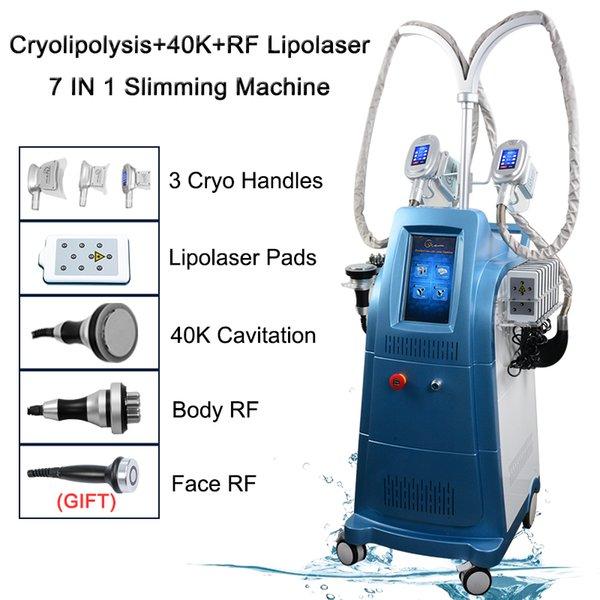 Sistema de criolipólise máquina de congelamento de gordura emagrecimento corpo cavitação ultra-sônica radiofrequência rf máquina facial aprovado pela CE