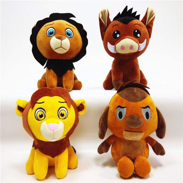 4 Estilos juguetes para niños Cartoon Lion Plush Toys 20cm / 8 pulgadas Lion Stuffed Animals Gift para bebé Navidad C857