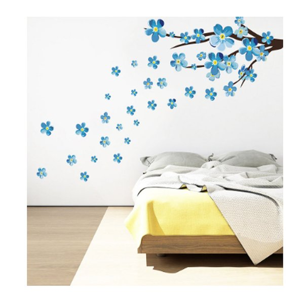 Kunshan Cross Boundary New Blue Plum Branches Green Wall Sticker Living Room Bedroom Children's Room Decoration Painting