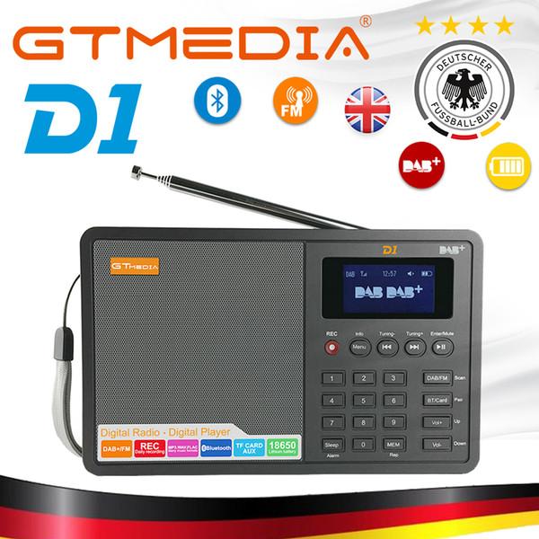 Radio de alta calidad Professional GTMedia D1 DAB Radio Stero para Reino Unido UE con Bluetooth Altavoz incorporado Fácil operación Negro
