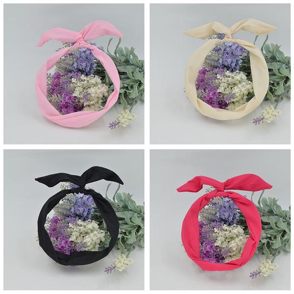 1pcs Livraison gratuite des femmes belle solide lapin lapin oreille ruban ruban métallique fil bandeau écharpe cheveux tête bande arc