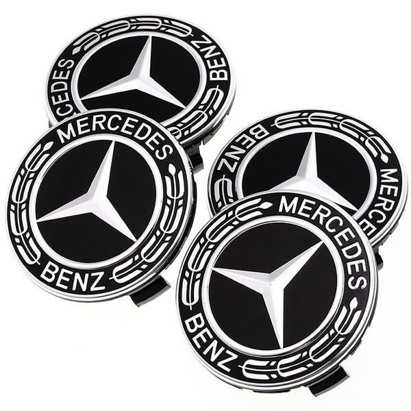 75 MM Car Styling 4 UNIDS / Juego Llantas Cubos del Círculo Cubiertas de Cubiertas para Mercedes Benz Accesorios Automáticos