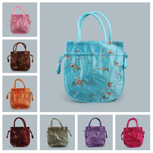 Hot Chinese style embroidered hand bag, wedding gift package, Jewelry Pouches ,storage bag, folding bag T2C5021