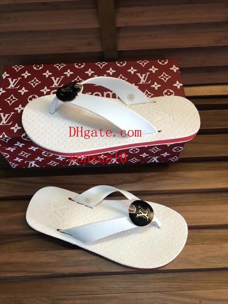 Terlik moda trendi patlamalar kaymaz saf beyaz tembel tutam flip-flop plaj