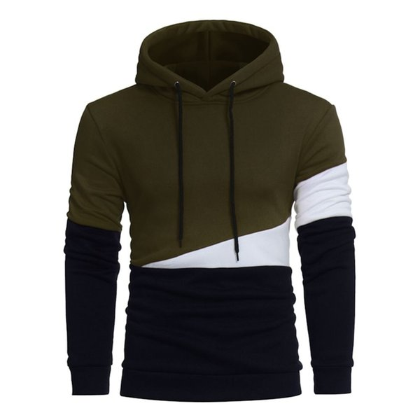 2019 New Listing Men's Clothing Brand High Collar Stitching Hoodie Autumn And Winter Hot Mens Pullover Fashion Casual Sportswear