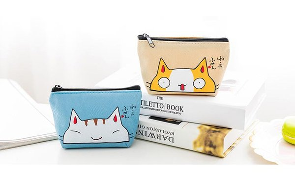 eTya Cat Coin Purses Women Wallets Small Cute Cartoon Animal Card Holder Key Bag Money Bags for Girls Ladies Purse Kids Children C2