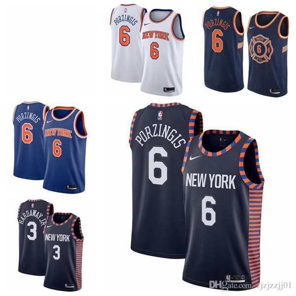 finest selection 29837 610f6 2019 2019 6 Kristaps Porzingis Knicks Jersey The City New York 14 Trier  Knox 20 Basketball Jersey NEW From Huang2214, $20.91 | DHgate.Com