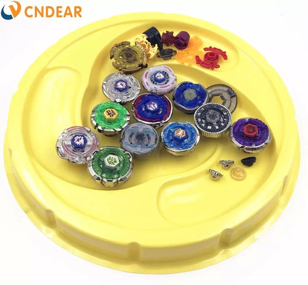 New Hot 12 PCS Beyblade Stadium Metal Fusion 4D Freies Spinner Top Launcher and Grip Arena AS Children Toy Gifts