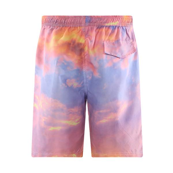 Tie Dye Painting Print Board Shorts Pig Pink Men Beach Short Swimboard