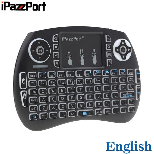 iPazzPort KP-810-21s Mini-Wireless-Tastatur-Air-Mouse mit 2,4-GHz-RGB-Hintergrundbeleuchtung mit Touchpad für Android TV-Box, Mini-PC, Laptop