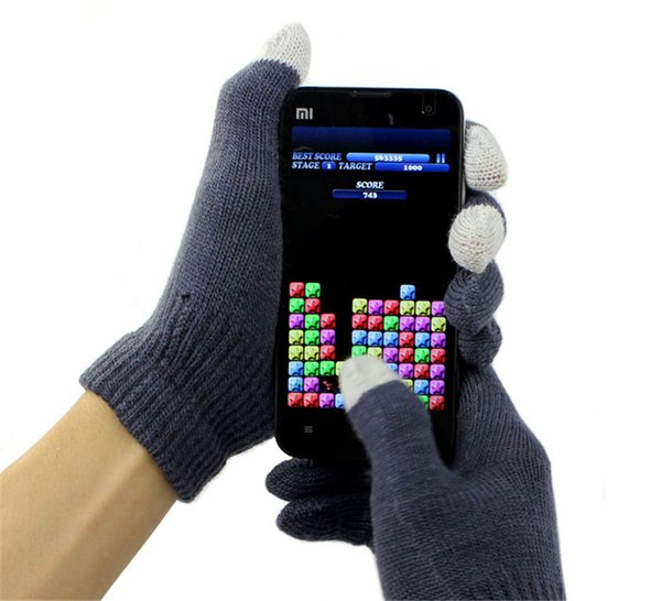 Mens/Wonems Touch Screen Gloves keep warm Texting Winter Knit for Smartphone iphone I9300 Y50