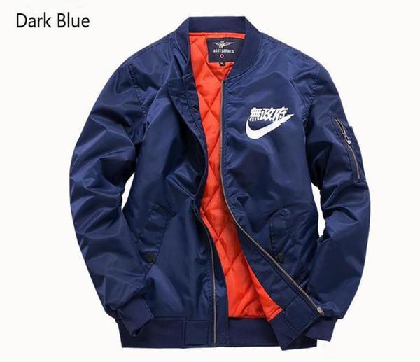 Casual Designer Vestes Homme Vêtements Polit Jackets Armée Vert Bleu Foncé Noir Taille S-6XL Zipper Nylon Mens Vestes De Mode Coupe-Vent