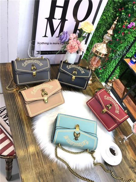 2018 vendita calda moda borse borse donna multi-colore designer borse crossbody e tracolle portafogli per donna in pelle catena bag