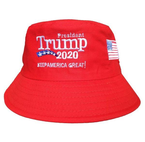 Trump 2020 Embroidered Bucket Cap Keep America Great Hat Cotton Sport Fisherman Cap Fashion Travel Camping Sun Hat